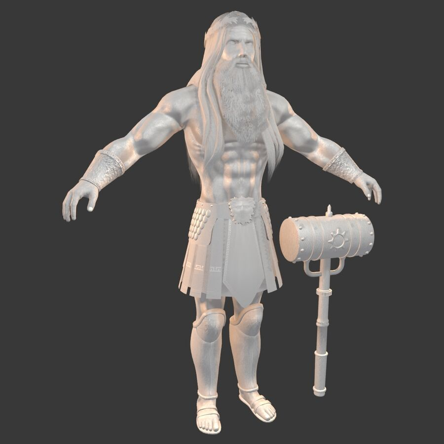 Hephaestus royalty-free 3d model - Preview no. 22