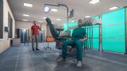 Szpital - budynek modułowy, rekwizyty i postacie 3d model