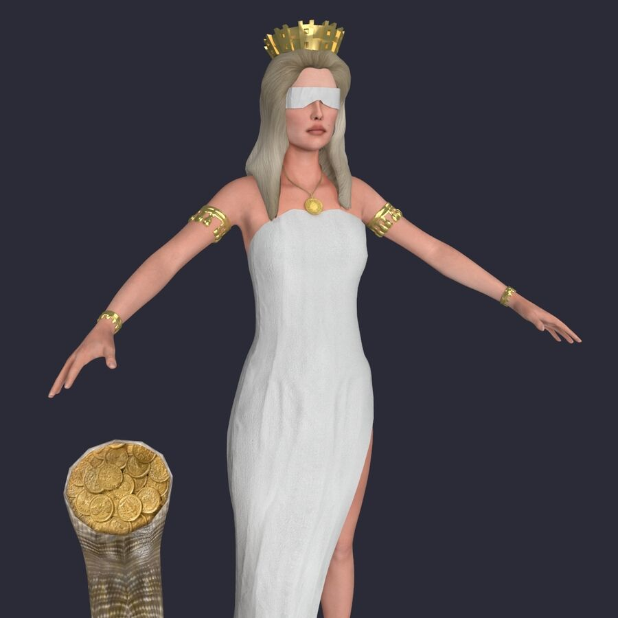 Fortune royalty-free 3d model - Preview no. 6