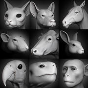 Animal Head Koleksiyonu vol. 1 3d model