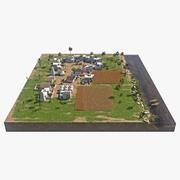 고대 이집트 마을 3d model