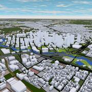 Houston City 3d model