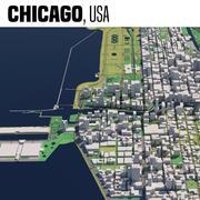 米国イリノイ州シカゴ 3d model