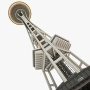 Space Needle Seattle Tower 3d model
