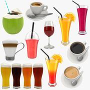 Coleção de bebidas 3d model