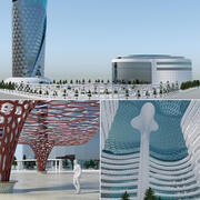 Future City Building consept 3d model
