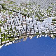 Cidade de Seattle 3d model