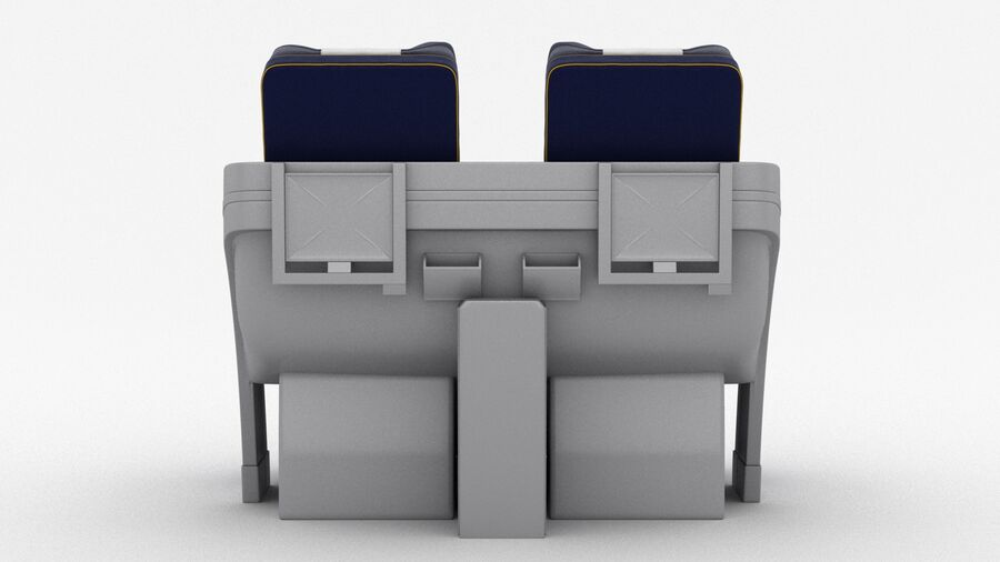 Lufthansa Airplane Seat royalty-free 3d model - Preview no. 9