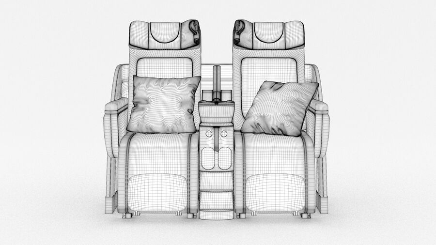 Lufthansa Airplane Seat royalty-free 3d model - Preview no. 17