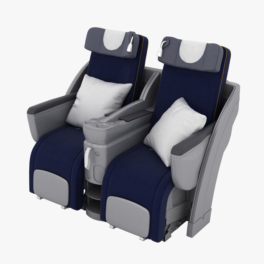 Lufthansa Airplane Seat royalty-free 3d model - Preview no. 1