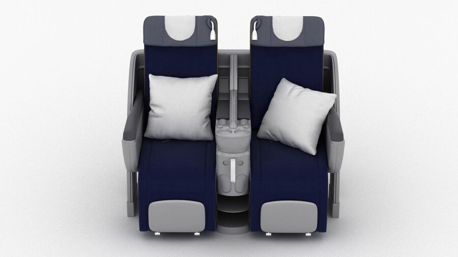 Lufthansa Airplane Seat royalty-free 3d model - Preview no. 3