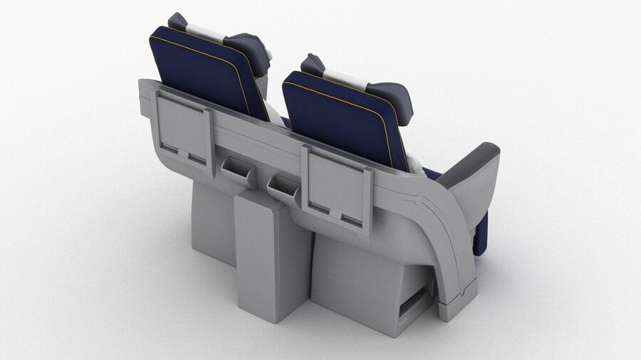 Lufthansa Airplane Seat royalty-free 3d model - Preview no. 5