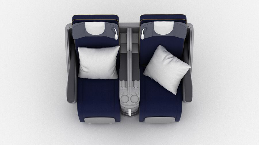 Lufthansa Airplane Seat royalty-free 3d model - Preview no. 10