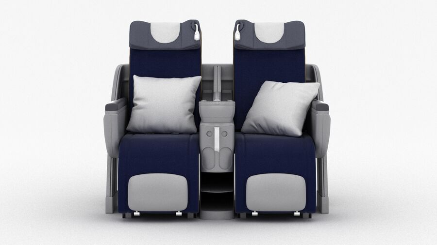 Lufthansa Airplane Seat royalty-free 3d model - Preview no. 8