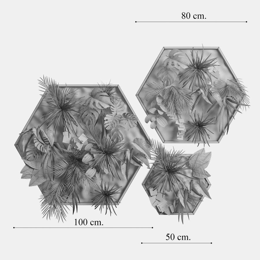 Decorative Pentagonal  Moss Set royalty-free 3d model - Preview no. 6