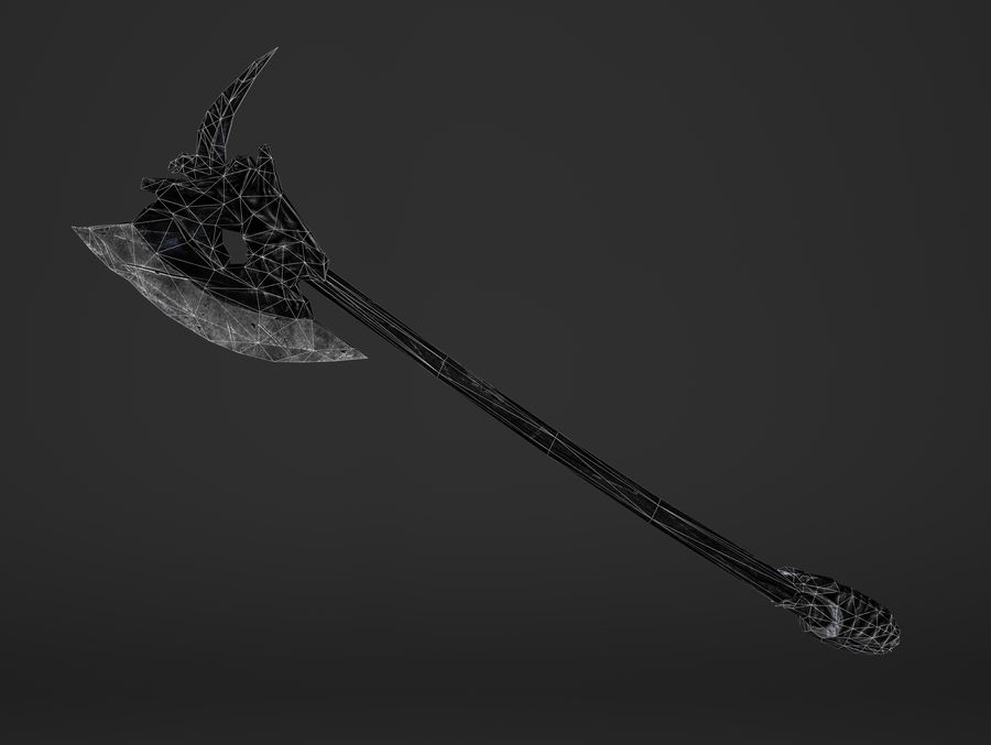 Two Handed Battleaxe royalty-free 3d model - Preview no. 12