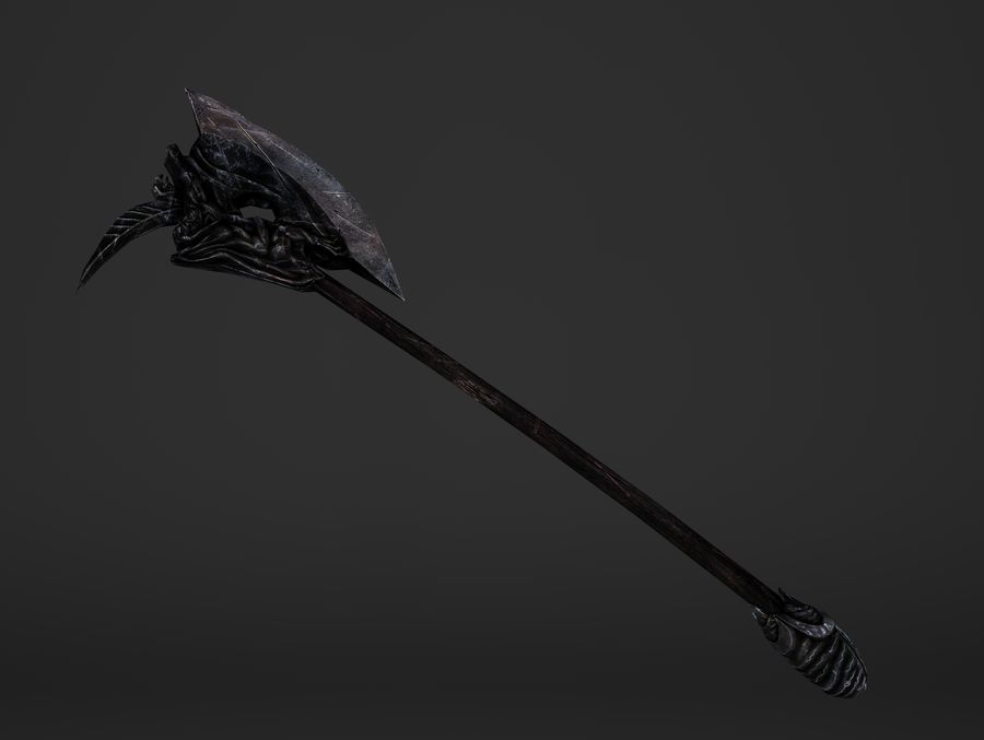 Two Handed Battleaxe royalty-free 3d model - Preview no. 7