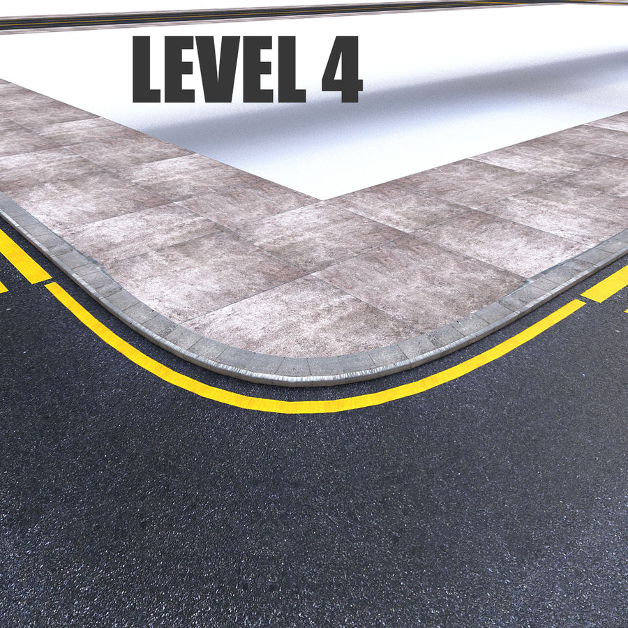 Modular Road royalty-free 3d model - Preview no. 7