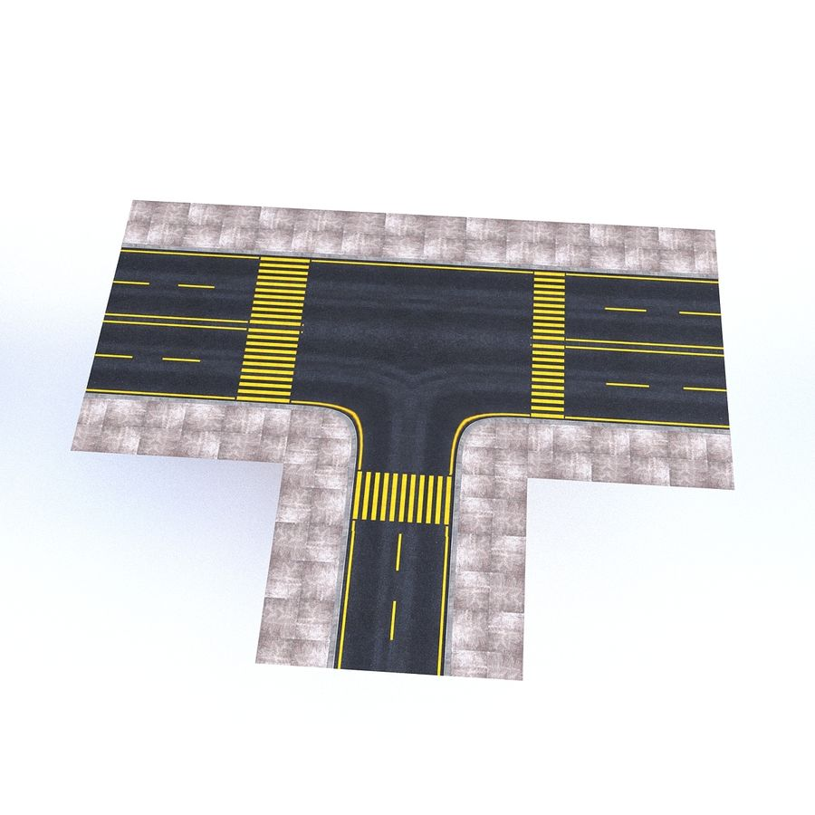 Modular Road royalty-free 3d model - Preview no. 14