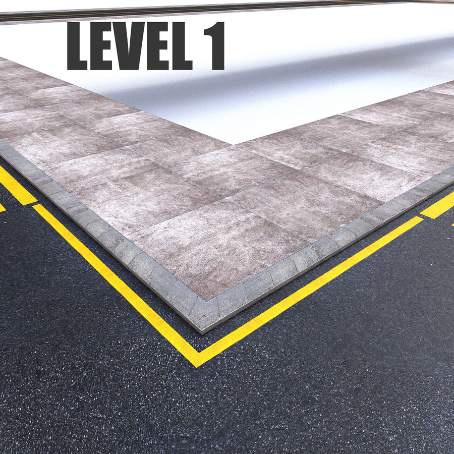 Modular Road royalty-free 3d model - Preview no. 4