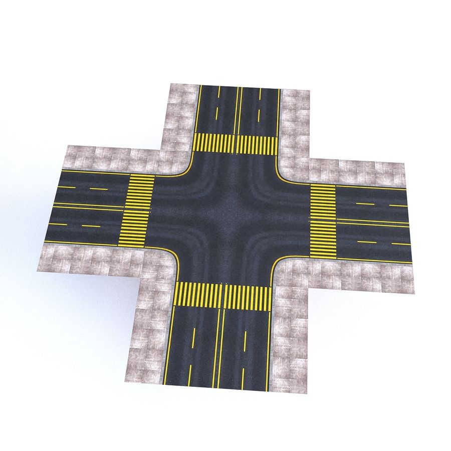 Modular Road royalty-free 3d model - Preview no. 16