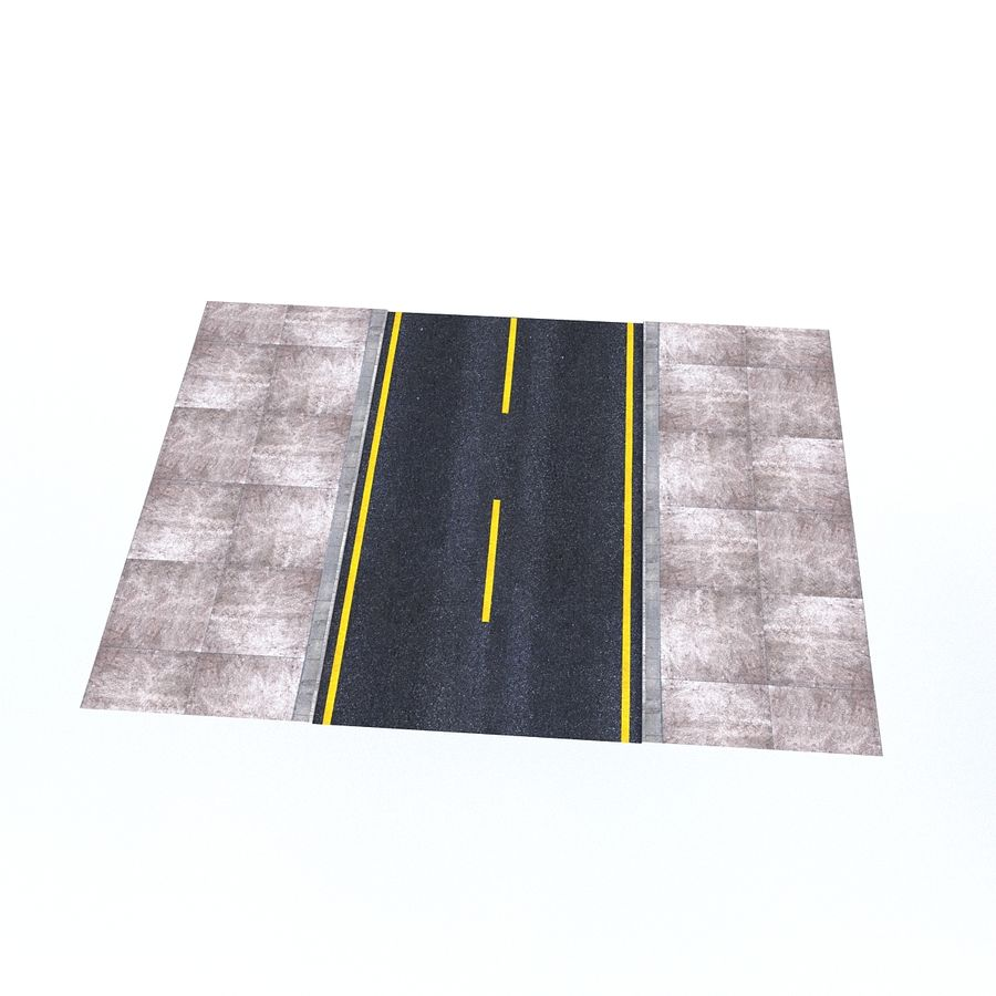 Modular Road royalty-free 3d model - Preview no. 10