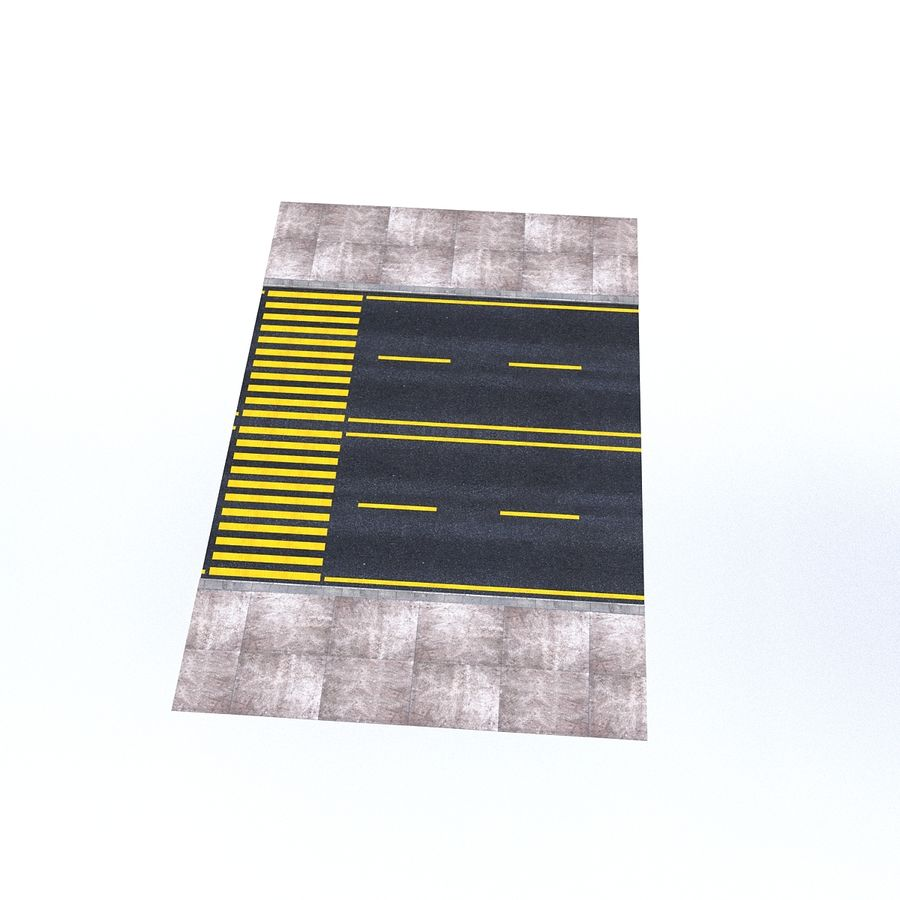 Modular Road royalty-free 3d model - Preview no. 11