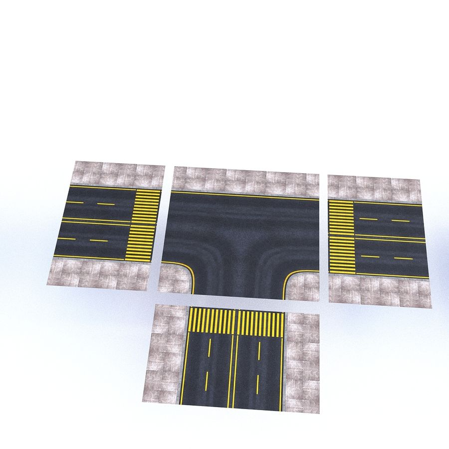 Modular Road royalty-free 3d model - Preview no. 17