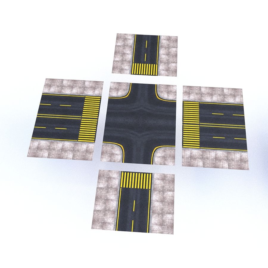 Modular Road royalty-free 3d model - Preview no. 19