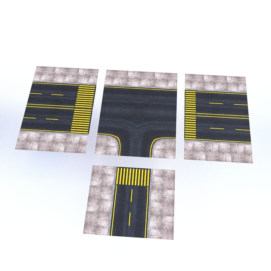 Modular Road royalty-free 3d model - Preview no. 18
