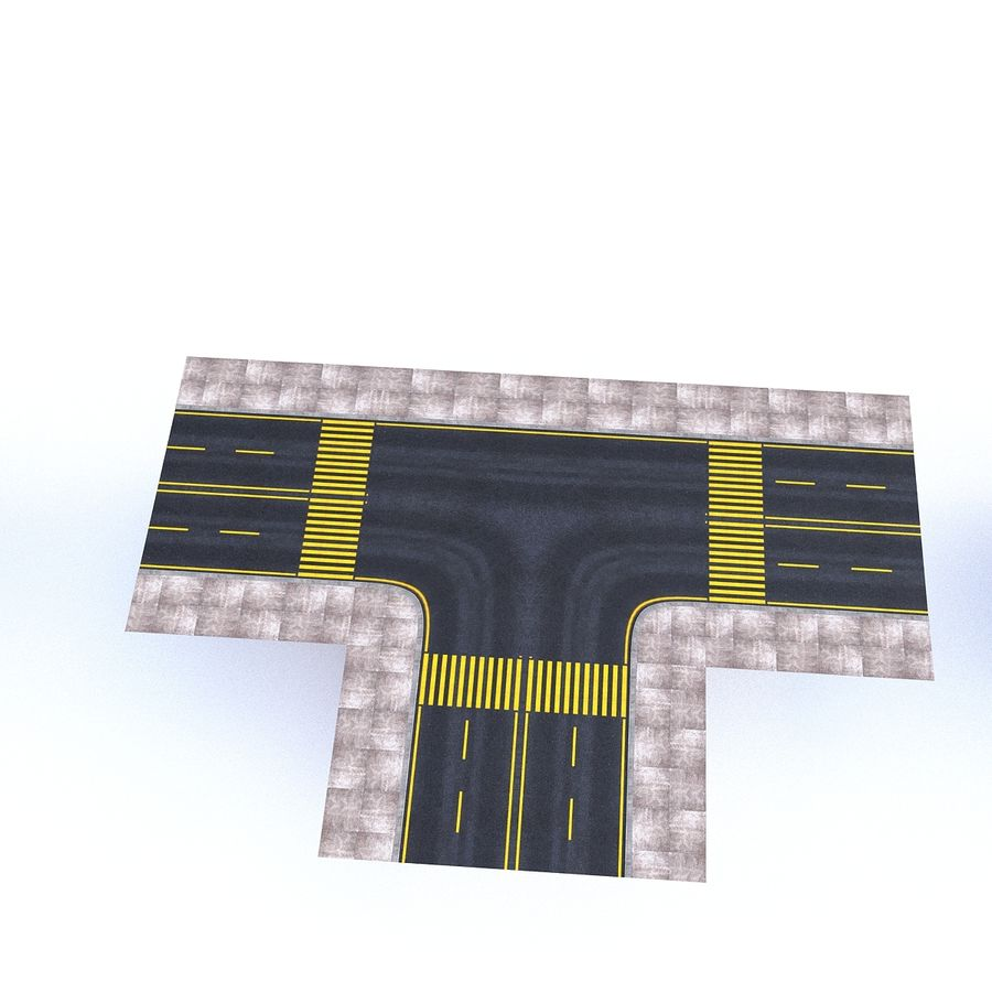 Modular Road royalty-free 3d model - Preview no. 13