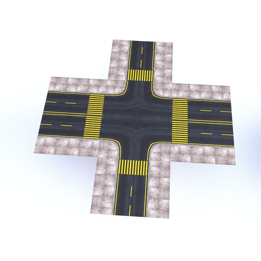 Modular Road royalty-free 3d model - Preview no. 15