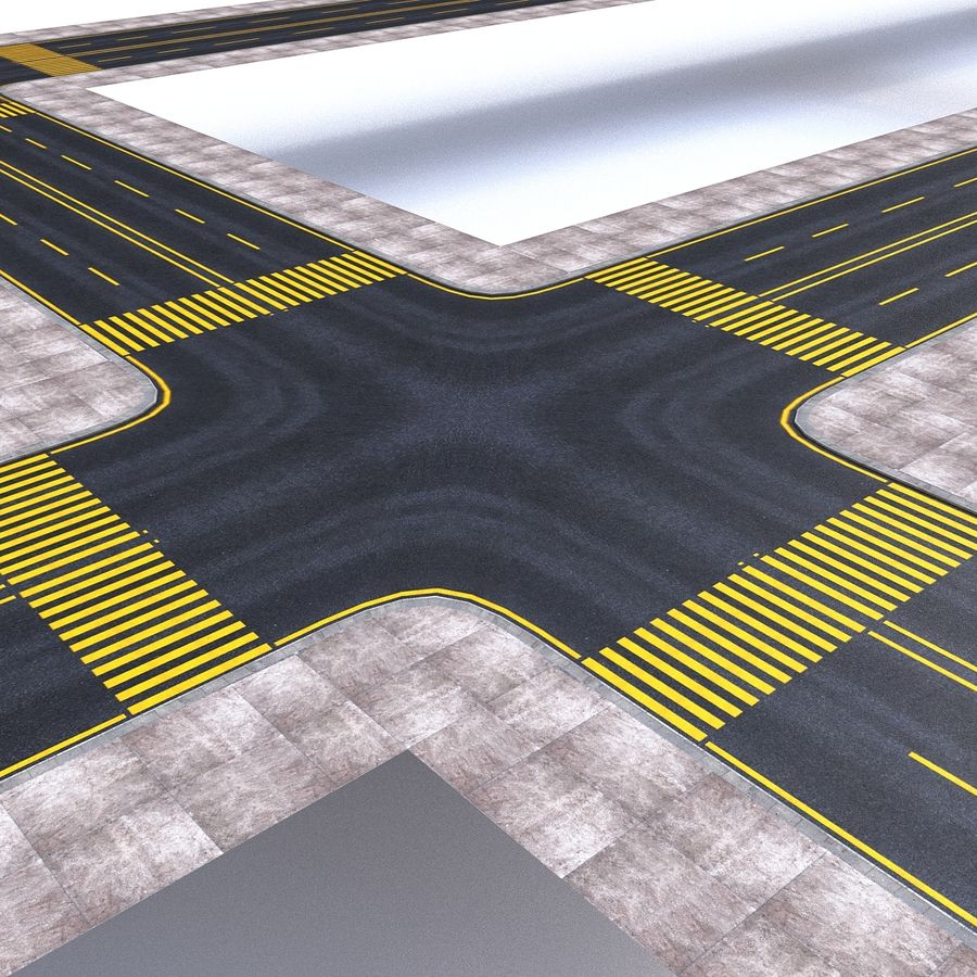 Modular Road royalty-free 3d model - Preview no. 2