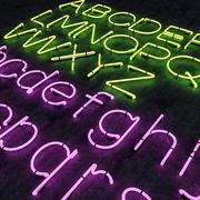 Неоновый алфавит 3d model