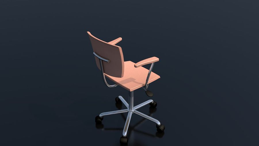 Office Work Chair Furniture royalty-free 3d model - Preview no. 6