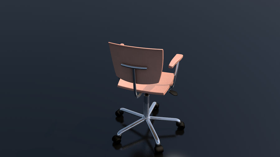 Büroarbeitsstuhl Möbel royalty-free 3d model - Preview no. 7