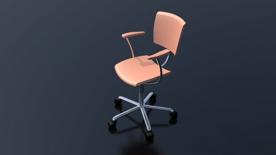Office Work Chair Furniture royalty-free 3d model - Preview no. 10