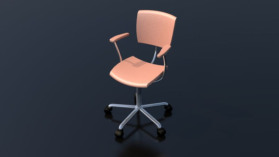 Office Work Chair Furniture royalty-free 3d model - Preview no. 2