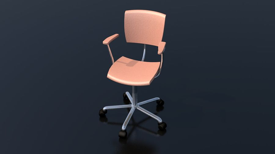 Office Work Chair Furniture royalty-free 3d model - Preview no. 3