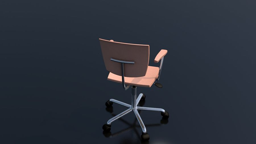 Office Work Chair Furniture royalty-free 3d model - Preview no. 7