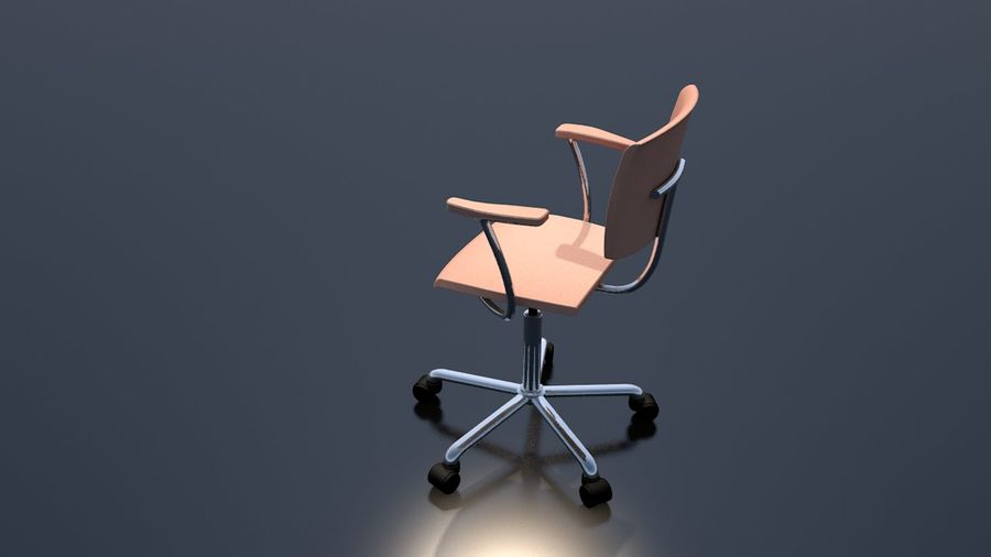 Office Work Chair Furniture royalty-free 3d model - Preview no. 9