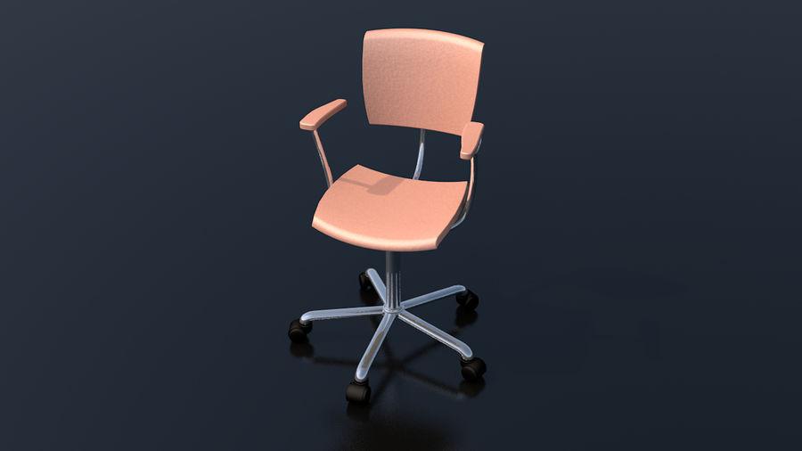 Büroarbeitsstuhl Möbel royalty-free 3d model - Preview no. 3