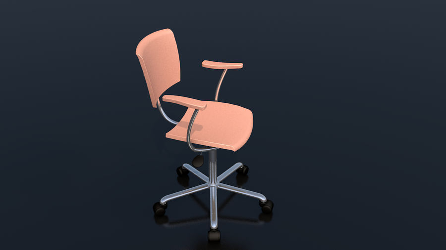 Büroarbeitsstuhl Möbel royalty-free 3d model - Preview no. 5