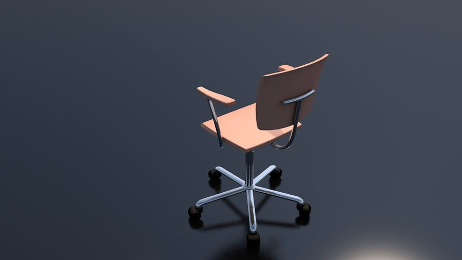 Office Work Chair Furniture royalty-free 3d model - Preview no. 8