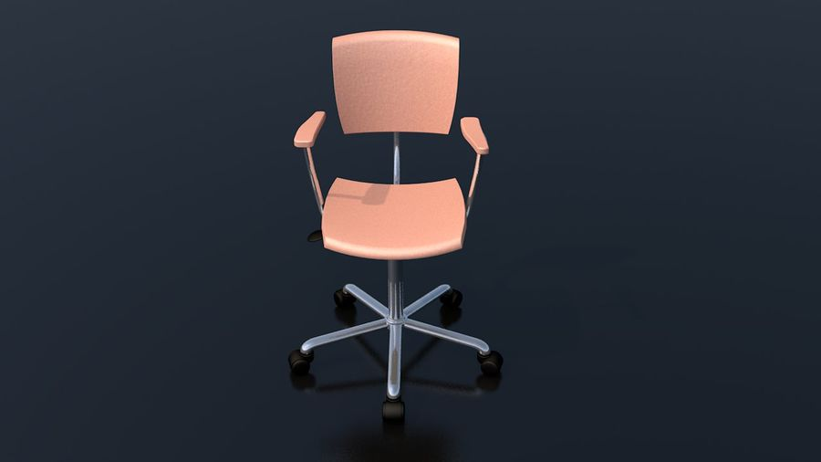 Office Work Chair Furniture royalty-free 3d model - Preview no. 4