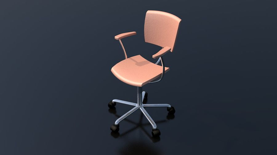 Office Work Chair Furniture royalty-free 3d model - Preview no. 1