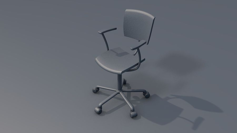 Office Work Chair Furniture royalty-free 3d model - Preview no. 11