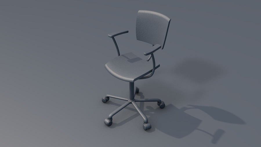 Büroarbeitsstuhl Möbel royalty-free 3d model - Preview no. 11