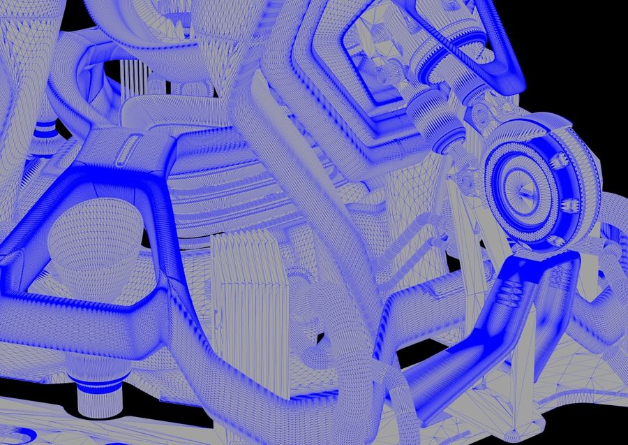 Futuristic Engine royalty-free 3d model - Preview no. 14