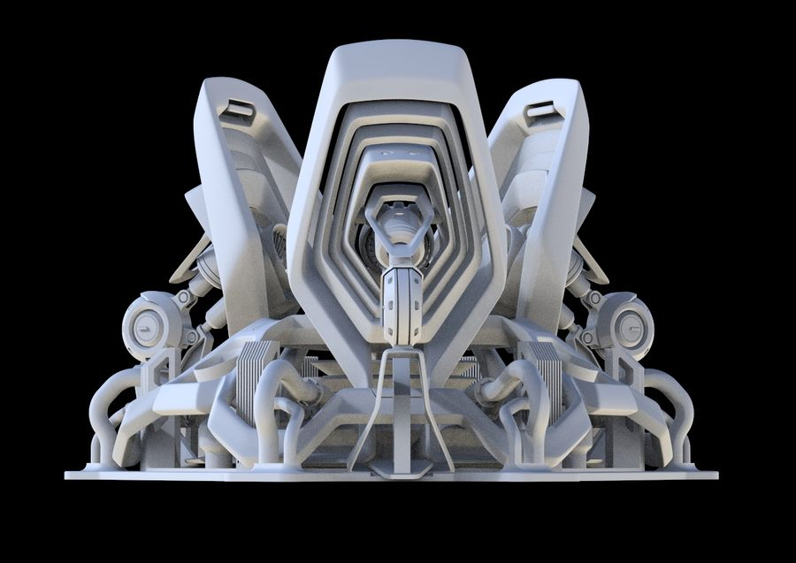 Futuristic Engine royalty-free 3d model - Preview no. 12